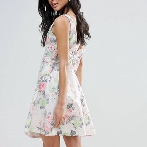 ASOS Zibi London Floral Low Back Prom Dress w/ Bow